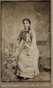 Ева Моисеевна Пигит, в замужестве Фиркович (1861–1942 гг.). Двоюродная сестра Ильи Пигита. Керчь, 1882 год