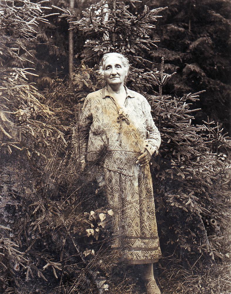 Ева Моисеевна Пигит, в замужестве Фиркович (1861–1942 гг.). Двоюродная сестра Ильи Пигита. В санатории. 18 июня, 1931 года