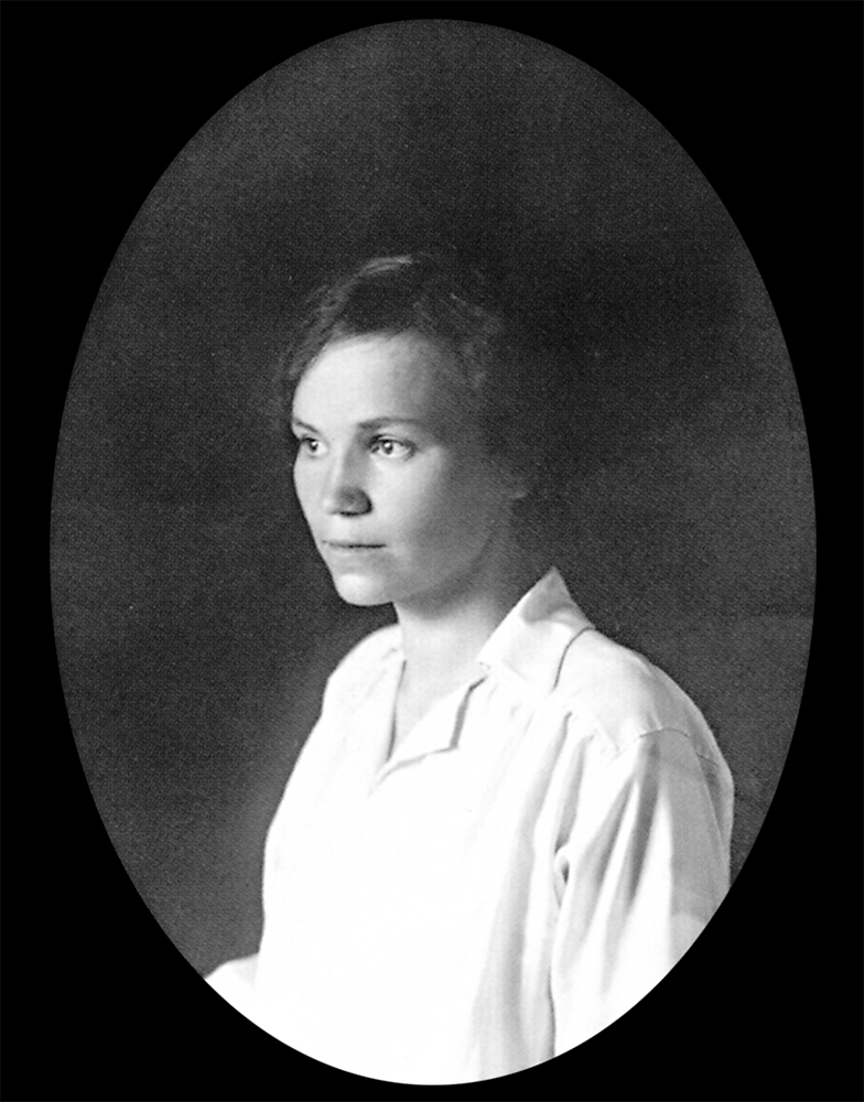 Вера Воскресенская, учащаяся Высших женских курсов Герье