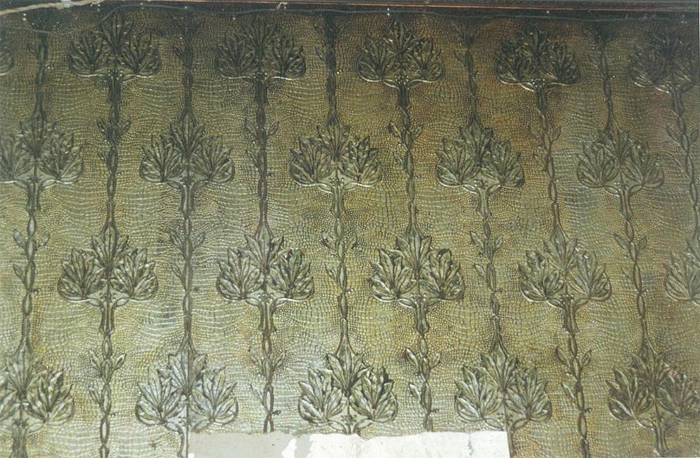 Картонные обои кабинета, стилизованные под крокодиловую кожу
