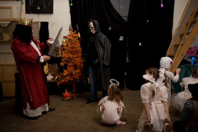 Рождественский спектакль в мастерской
