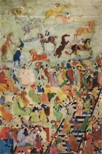 Г. Якулов. Скачки. 1905 год. Государственная Третьяковская галерея