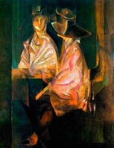 Портрет Алисы Коонен. 1920 год. Частное собрание