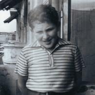 Владимир Володарский на балконе своей комнаты. Около 1964 года