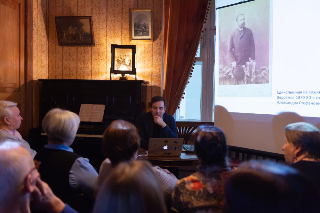 Встреча с жителями дома в Музее М.А. Булгакова. 1 декабря 2019 года. Фотография: Евгения Демина