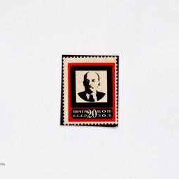 Траурная марка, из специальной серии, посвященной смерти В. Ленина. Номинал 20 коп., СССР, 1924 год. Булгаков написал на смерть Ленина рассказ «Воспоминание».