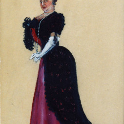 Семен Аладжалов. Госпожа Пундик. Эскиз к постановке пьесы «Так было» в Госцентюзе. 1931 год.