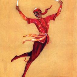 Семен Аладжалов. Эскиз костюма «Танец с саблями» для Госцентюза. 1952 год.