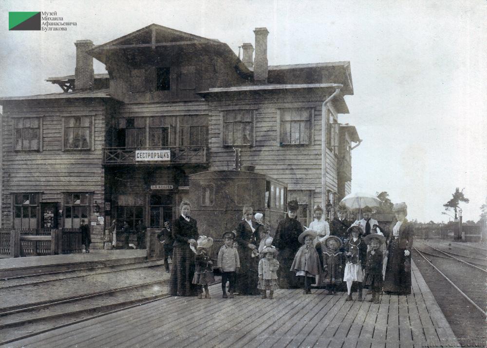 Семья фон Бооль в Сестрорецке. Из бювара Ольги фон Бооль