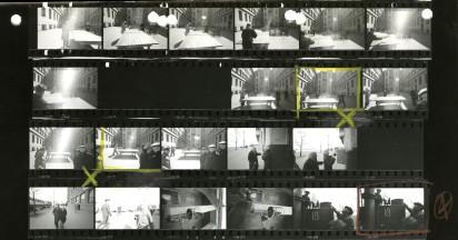 Контрольный отпечаток Уильяма Кляйна с видами двора дома № 10 по Большой Садовой, Садового кольца и Концертного зала имени П.И. Чайковского