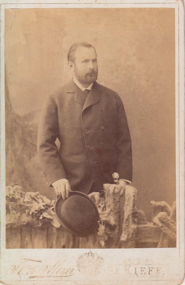 Единственная из сохранившихся фотографий Люциана Вильмера. Киев. Вероятно, 1870–80-е годы. Из личного архива правнука Люциана Вильмера Александра Стефановича