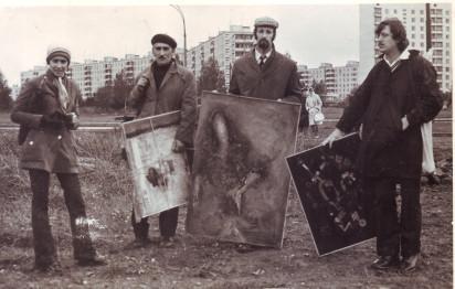 «Бульдозерная выставка» 1974 года в Беляево. Из личного архива А.В. Кирин