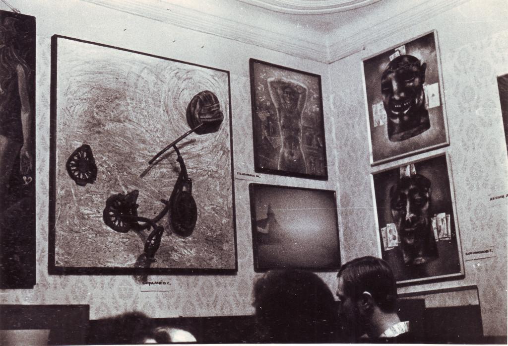 Вернисаж в квартире Людмилы Кузнецовой. 24 декабря 1978. Из личного архива А.В. Кирин