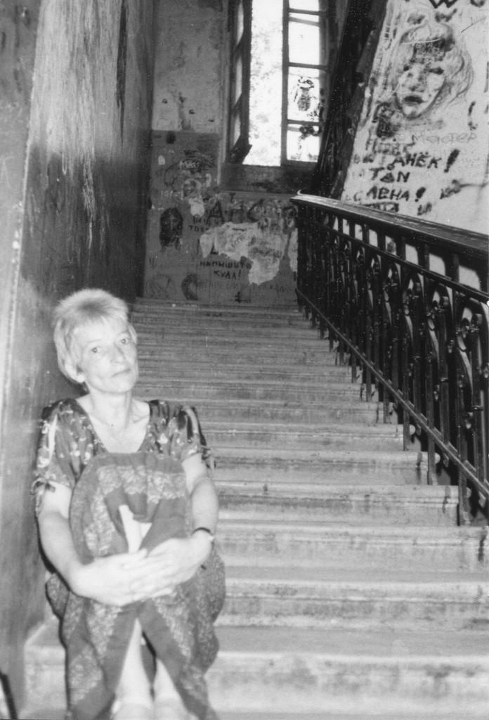Хайдрун Лёпер на «нехорошей лестнице» Снимок сделан летом 1988 г. Фото: Michael Leetz