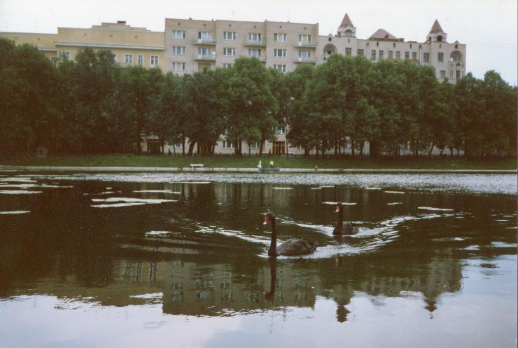 Большой Патриарший пруд. Снимок сделан весной-летом 1988 г. Фото: Michael Leetz