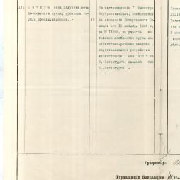 Документ, сообщающий о высылке Анны Пигит из Санкт-Петербурга в Вятку. 1903 год. ГА РФ. Ф. 102. Оп. 139. Д. 5. Л. 15-16.