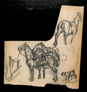 Набросок. Лошади. Из собрания Музея М. А. Булгакова