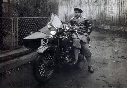 Николай Костаки на новом Harley-Davidson. 1931 год