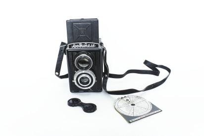 Фотоаппарат «Любитель» c фотоэкспонометром. 1952 год. На этот фотоаппарат снимал Дионисий Костаки. Из личного собрания М. Н. Костаки