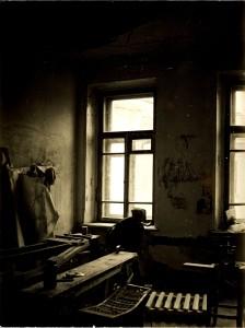 Одна из комнат квартиры № 50 во время ремонта. 1990. Из фонда Музея М. А. Булгакова