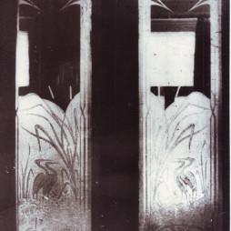 Фрагмент оригинальной межкомнатной двери в квартире № 34. 1990-е годы. Фотограф Артем Задикян